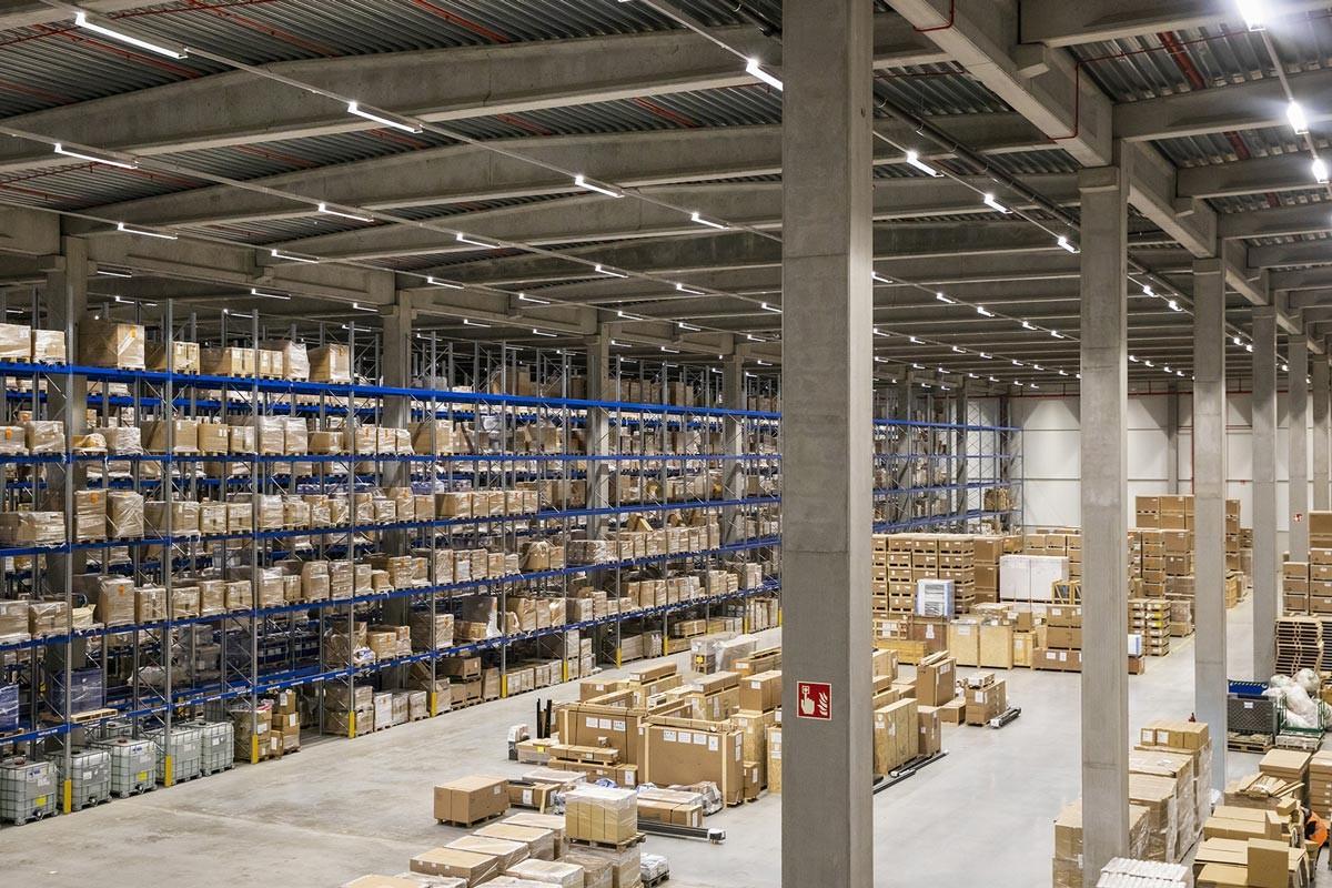 Construction plateforme logistique K wdp mainfreight evergem