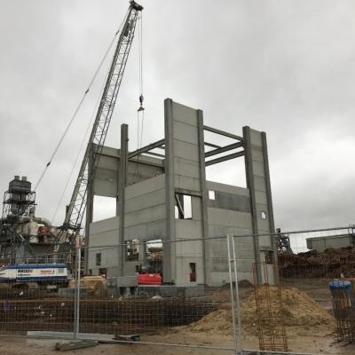 Bâtiment industriel béton Normandie Linex