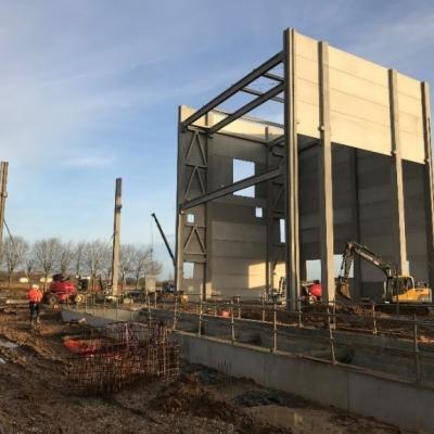 Montage bâtiment industriel Linex